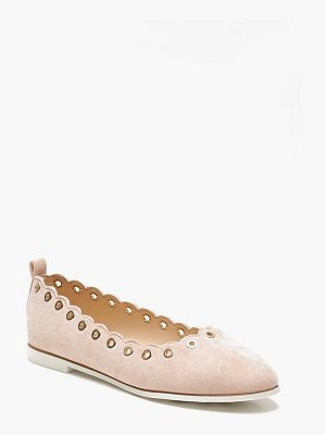 Boohoo Scallop Edge Ballerinas