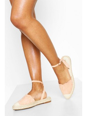 Boohoo Scallop Edge Pointed Espadrilles