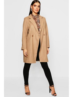 Boohoo Seam Detail Wool Look Coat