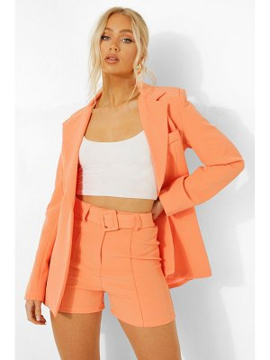 Boohoo Seam Front Belted Tailored Shorts