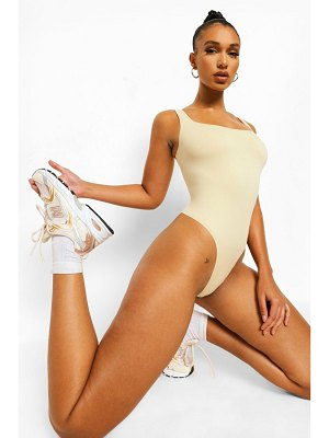 Boohoo Second Skin Brushed Square Neck One Piece