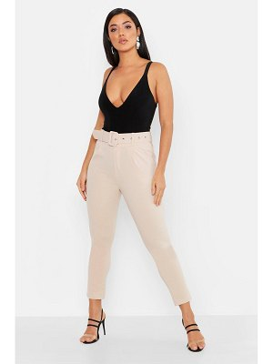 Boohoo Self Belt Tailored Pants