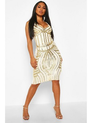 Boohoo Sequin Panelled Midi Dress