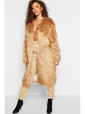 Boohoo Shaggy Faux Fur Coat