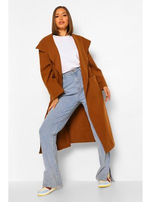 Boohoo Shawl Collar Oversized Wool Look Coat