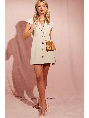 Boohoo Shawl Collar Tailored Button Front Dress