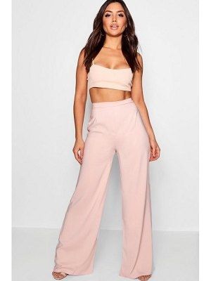 Boohoo Shelby High Waisted Woven Wide Leg Trousers