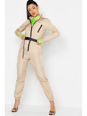 Boohoo Shell Suit Safety Buckle Jumpsuit