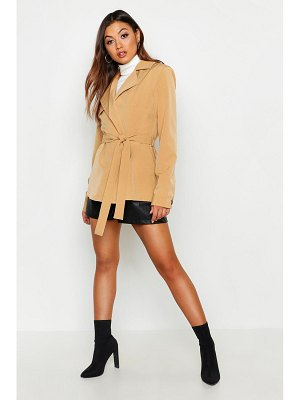 Boohoo Short Belted Trench