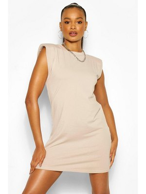 Boohoo Shoudler Pad T-Shirt Dress