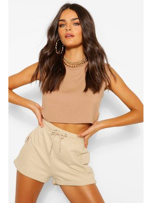 Boohoo Shoulder Pad Crop T-Shirt