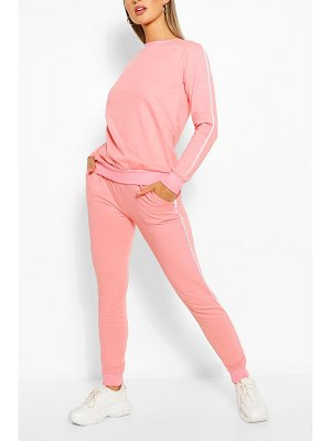 Boohoo Side Detail Sweater & Jogger Set