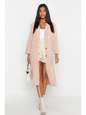 Boohoo Side Slit Longline Lightweight Duster