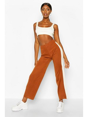 Boohoo Side Stripe Knitted pants