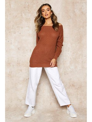 Boohoo Slash Neck Fisherman sweater