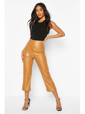 Boohoo Slim Fit Crop Faux Leather Pants