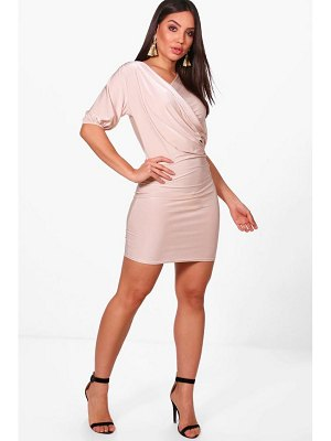 Boohoo Slinky Draped Bodycon Dress
