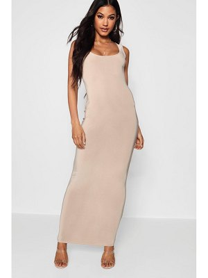 Boohoo Slinky Square Neck Maxi Dress