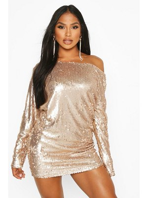 Boohoo Slouch Sequin Mini Dress