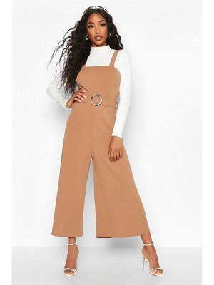 Boohoo Snake Buckle Pinafore Jumpsuit