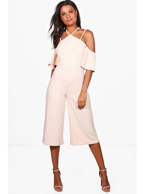 BOOHOO Sofia Open Shoulder Culotte Jumpsuit