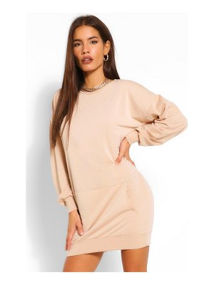Boohoo Soft Loopback Kanga Pocket Sweat Dress