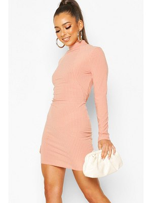 Boohoo Soft Rib High Neck Seam Detail Mini