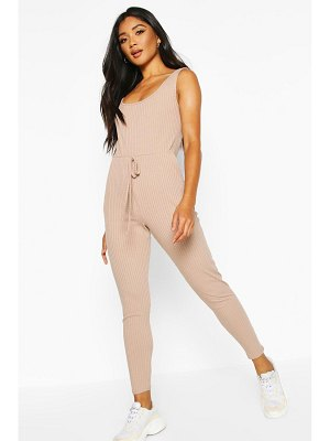 Boohoo Soft Ribbed Slouch Cami Jumpsuit