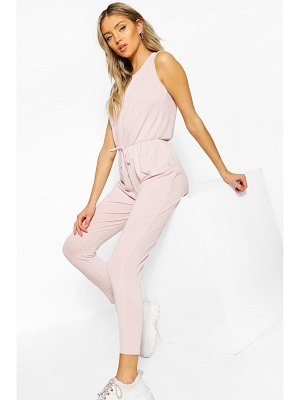 Boohoo Soft Tie Waist Slouch Jumpsuit