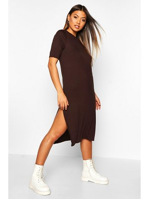 Boohoo Split Midi T-Shirt Dress