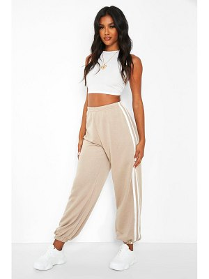 Boohoo Loose Fit Joggers With Side Stripes