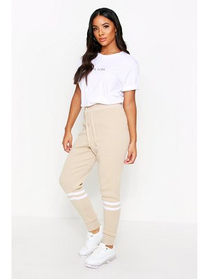 Boohoo Sports Stripe Knitted Jogger
