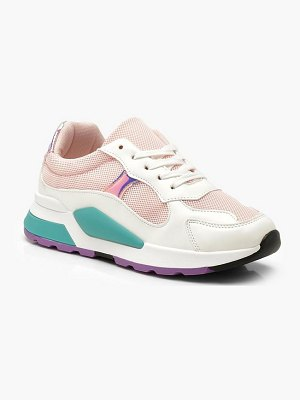 Boohoo Sporty Colour Pop Sneakers