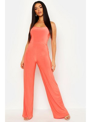 Boohoo Square Neck Wide Leg Jumpsuit