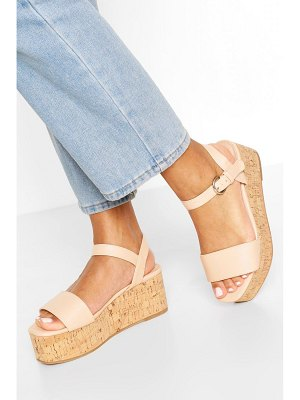 Boohoo Square Toe 2 Part Flatforms