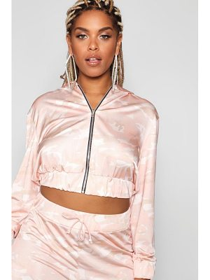 Boohoo Hooded Camo Jacket