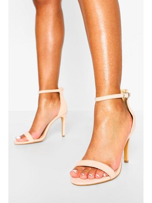 Boohoo Stiletto Barely There Two Part Heels