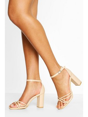 Boohoo Strappy Block Heel 2 Parts