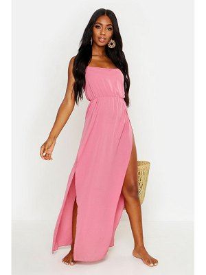 Boohoo Strappy Chiffon Beach Maxi Dress