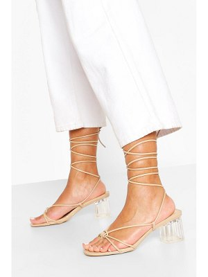 Boohoo Strappy Clear Low Heel Sandals