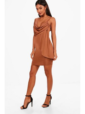 Boohoo Strappy Drape Bodycon Dress