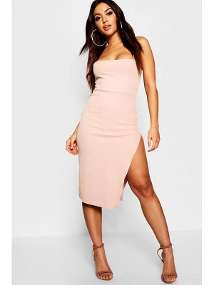 Boohoo Strappy Ribbed Square Neck Bodycon Dress
