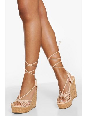 Boohoo Strappy Wrap Up Detail Wedges