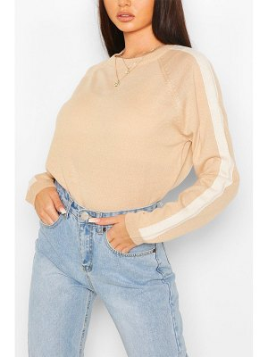 Boohoo Stripe Fine Knit Sweater
