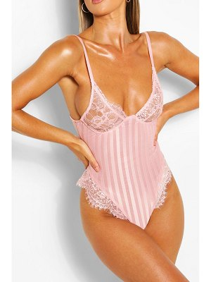 Boohoo Stripe Lace Body