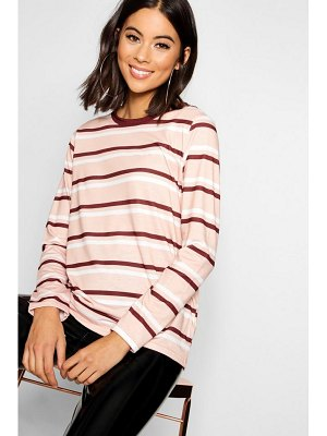 Boohoo Stripe Long Sleeve Ringer T-Shirt