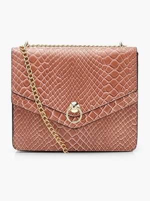 Boohoo Structured Faux Snake Ring Cross Body