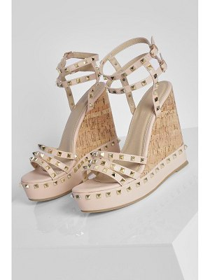 Boohoo Stud Strappy Detail Wedges