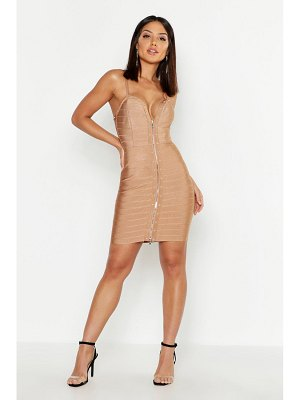 Boohoo Studded Strappy Contouring Bandage Bodycon Mini Dress