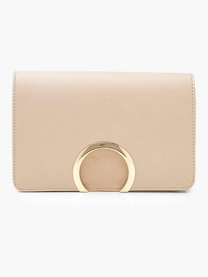 Boohoo Suedette & PU Large Ring Cross Body